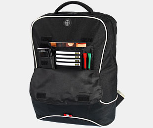 AQUIP TΣΑΝΤΑ NOTEBOOK A/BP-2 Q-FRIEND BACKPACK BLACK-WHITE