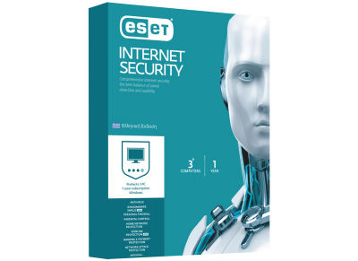 ESET NOD32 Internet Security Πλήρης Προστασία Retail 3Users 1Y
