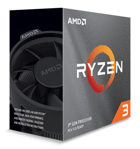 AMD CPU Ryzen 3 3100 3.6GHz-3.9GHz 4C/8T 18Mbc AM4 NoGraphics