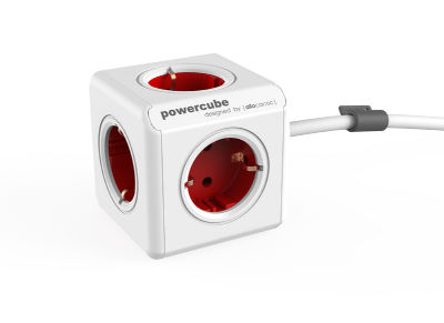 Πολύμπριζο PowerCube Extended 3m Schuko RED 1307/DEEXPC