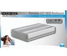 "Konig USB 3.5"" IDE Hard Drive Enclosure"