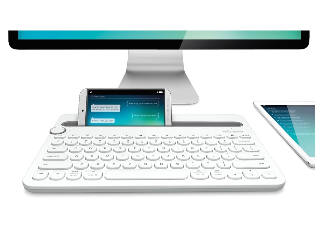 LOGITECH Keyboard Wireless K480 Bluetooth Πληκτρολόγιο White