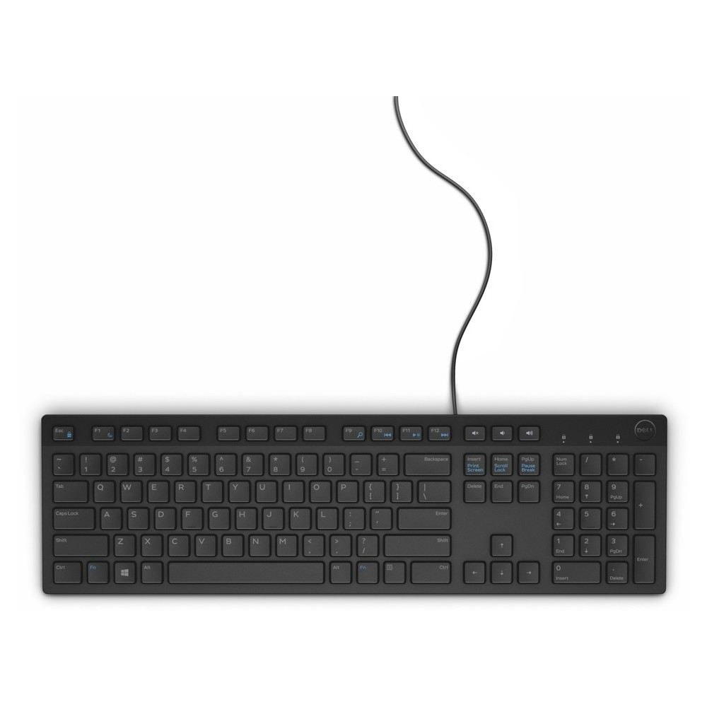 DELL Keyboard KB216 Greek QWERTY Multimedia, Black