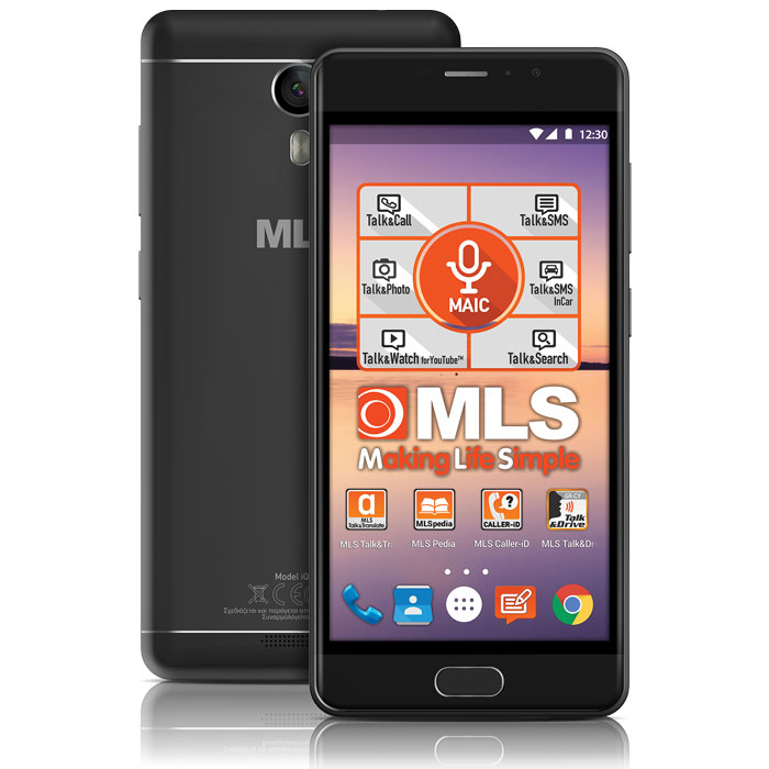 "Smartphone MLS MX 4G Octa 3-32Gb DS 5.2"" 16Mp BLACK"