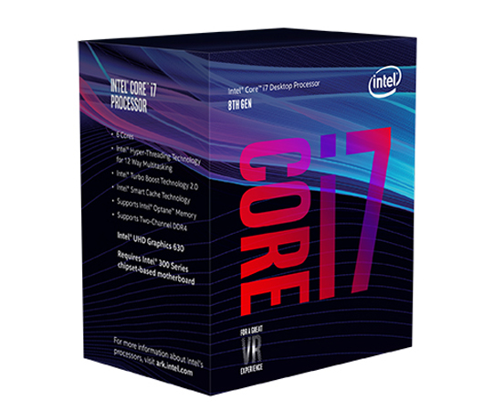 INTEL CPU Core i7-8700 4.6GHz 6Cores BX80684I78700