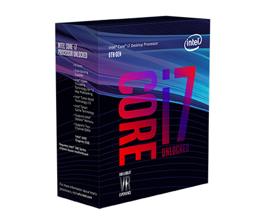 INTEL CORE i7-8700k 3,70Ghz/12MB/s1151/95W BX80684I78700K