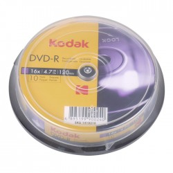 KODAK DVD-R 16x 4.7GB 10-Pack Cake Box