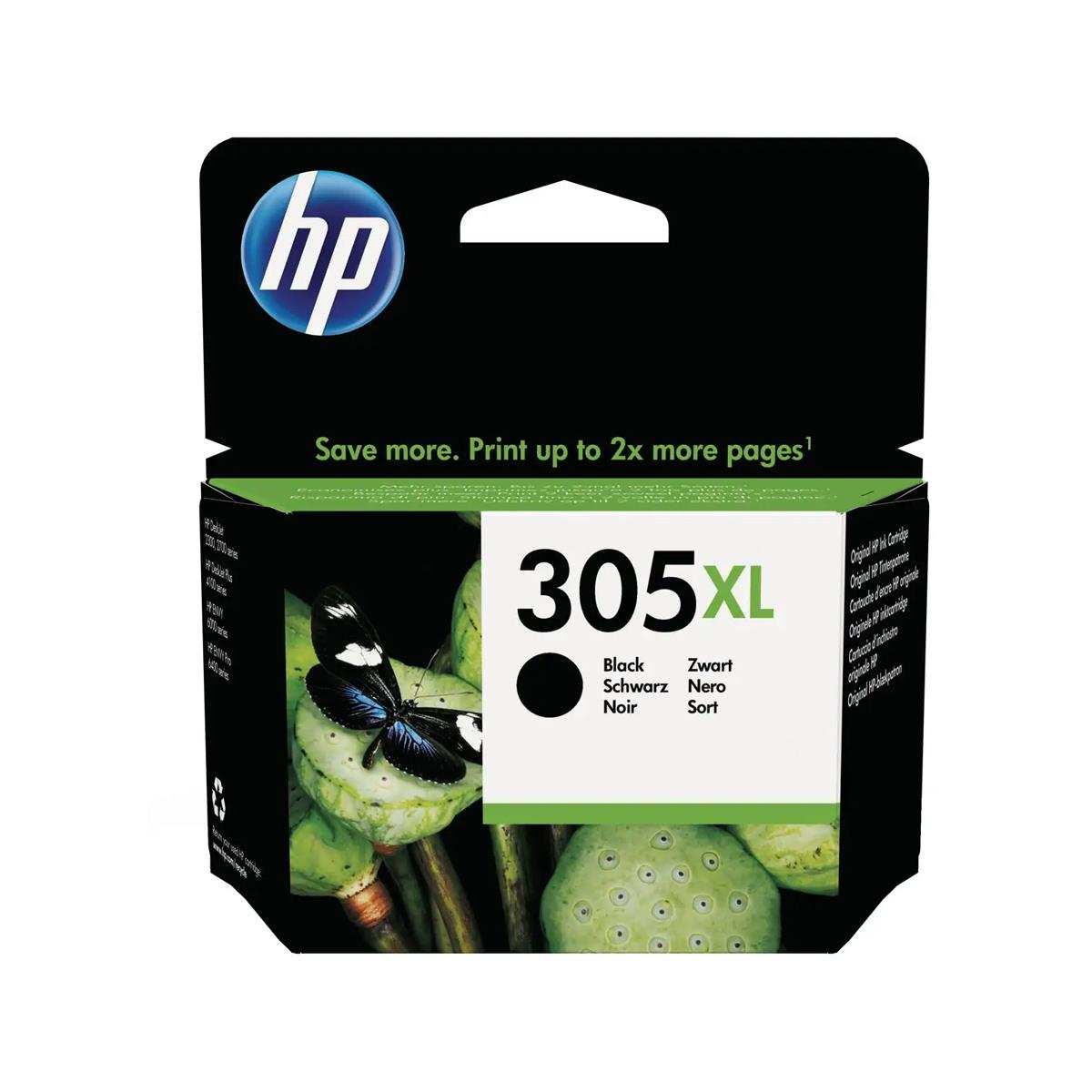 Μαύρο Μελάνι HP No 305 XL Black Ink Cartridge (3YM62AE)
