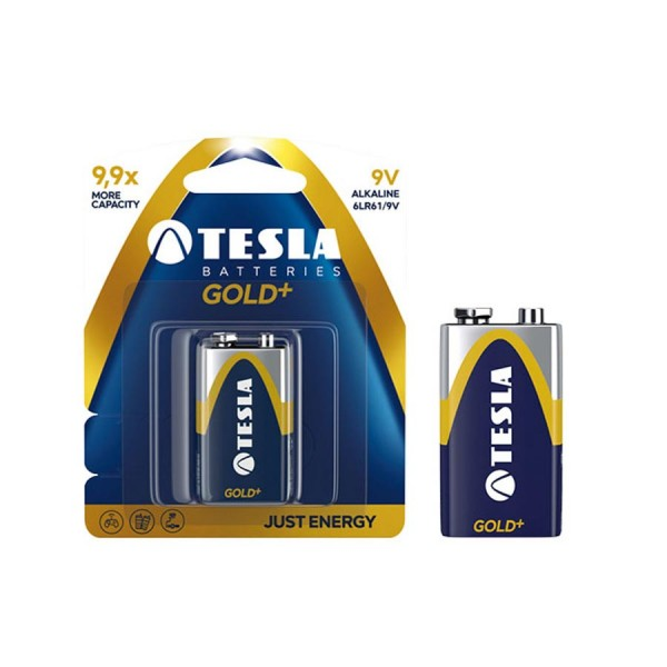 Tesla Alkaline Battery 9V Gold+ 550mAh