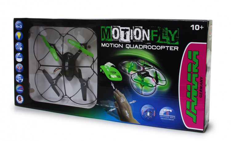 JAMARA Drone MotionFly, G-Sensor, 6 Axis, 360 flips, turbo, LED