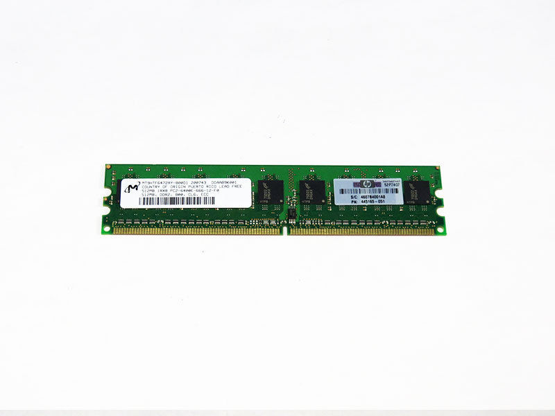 Μνήμη HP 512MB PC2-6400E DDR2-800 1Rx8 CL6 ECC UDIMM 1.8V