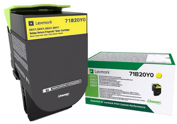 Toner LEXMARK Laser 71B2HY0 High Yield Yellow 3.500 σελίδες
