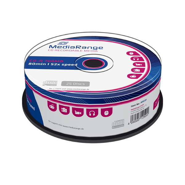 MediaRange CD-R 80' 700MB 52x Cake Box x 10
