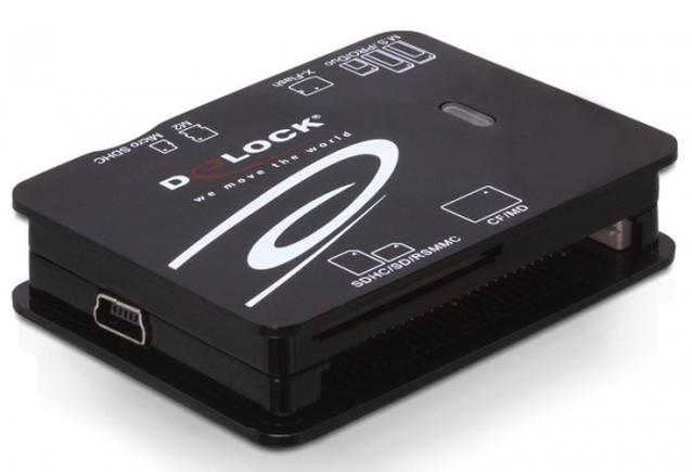 Delock Card Reader SD/CF/XD/TF/MMC/MS USB 2.0 91471