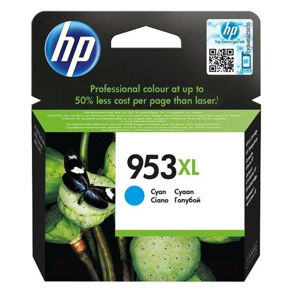 HP 953XL CYAN INK CARTR 1600 pages F6U16AE
