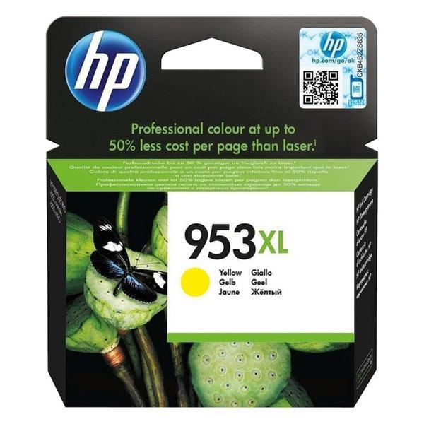 HP 953XL YELLOW INK CARTR 1600 pages F6U18AE