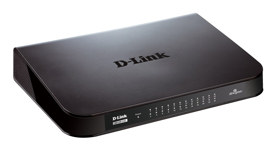 D-Link 24port Gigabit Switch GO-SW-24G 10/100/1000 Mbps