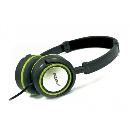 APPROX Hi-Fi Stereo Headsets Green