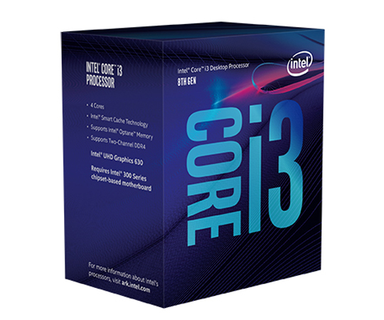 INTEL CORE i3-8100 3,60Ghz/6MB/s1151/65W BX80684I38100