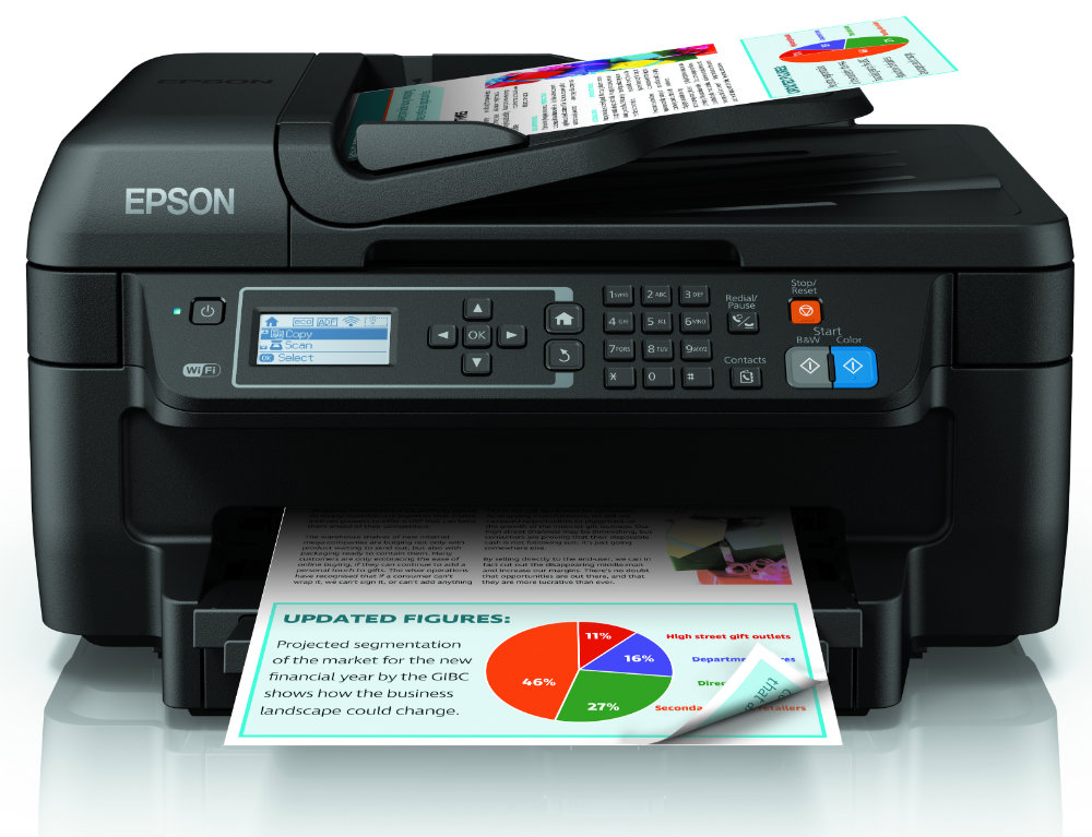 Epson Workforce WF2750DWF MFP A4/33ppm/4800/USB/WiFi/FAX Duplex