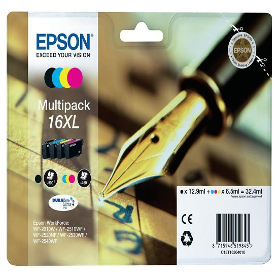 Epson Set Μελανιών C13T16364012 16XL Multipack 4 Ink Pen