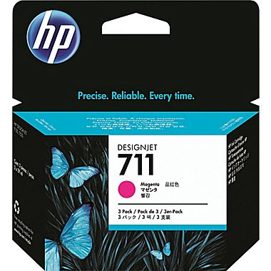 'Εγχρωμο Μελάνι HP Magenta No711 3 x 29ml CZ135A 3 pack