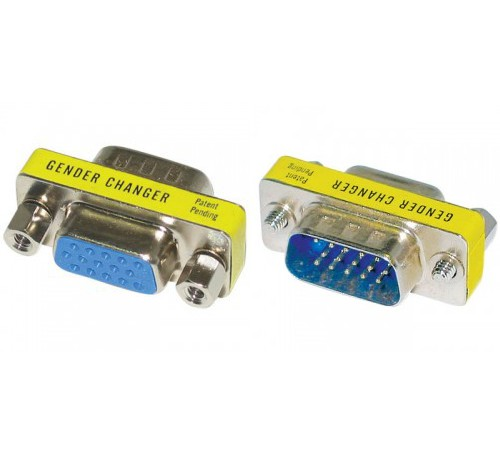 Adaptor Gender Changer VGA 15pin Male/Female M/F DB15M/DB15F