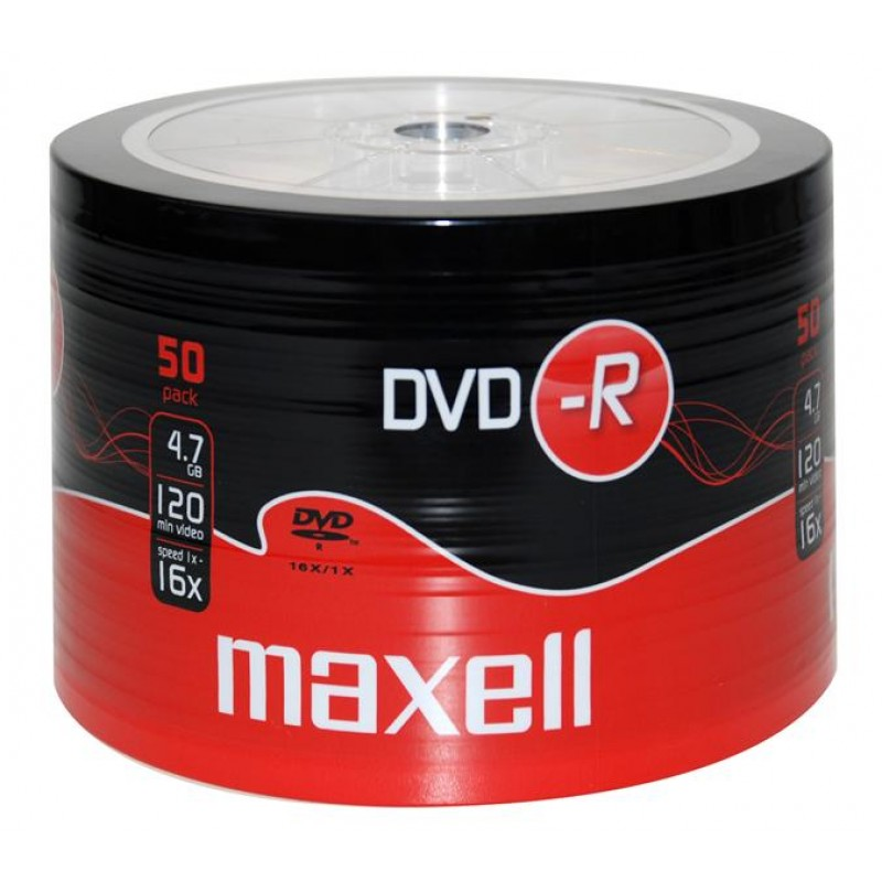 Maxell DVD-R 4,7GB 16X 50PACK Spindle (50 τεμάχια)