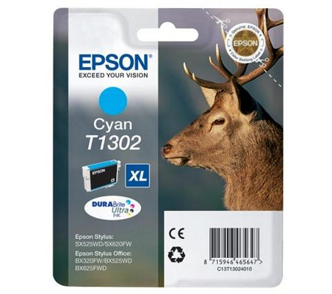 Cyan Μελάνι EPSON T1302 Stag-Size XL
