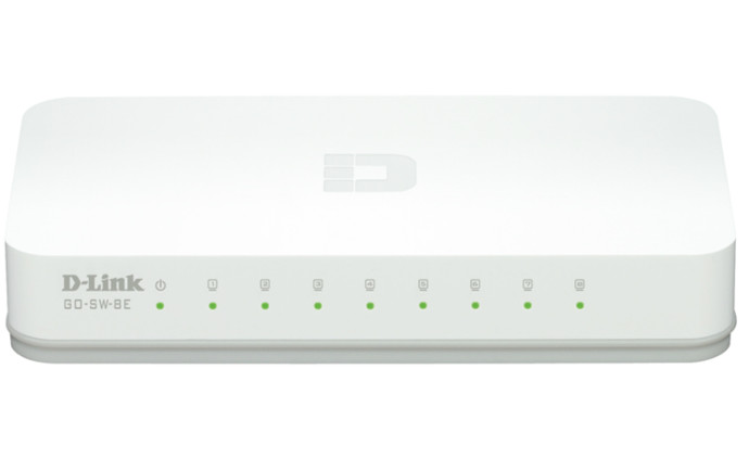 D-Link 8port Fast Ethernet Switch GO-SW-8E 10/100 Mbps