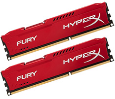 Kingston DDR3 1866MHz 8GB HyperX Fury Red HX318C10FRK2/8
