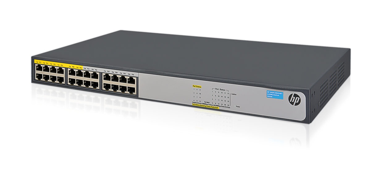 HP Switch OfficeConnect 1420-24G PoE+ 24-Port 10/100/1000 JH019A