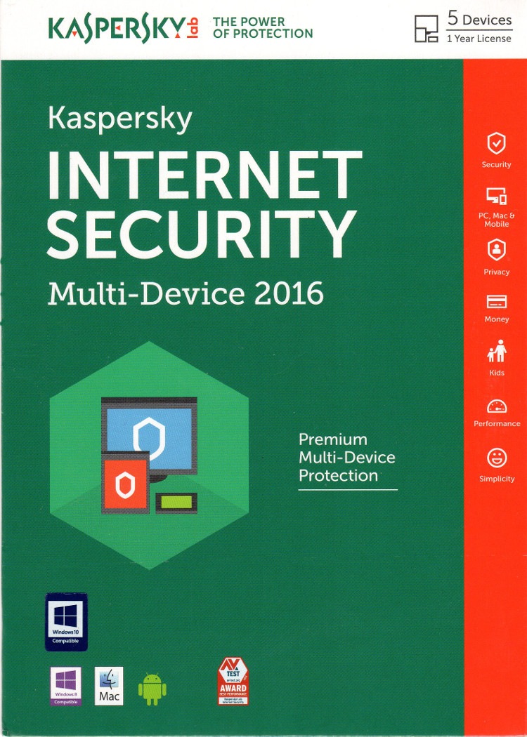 Kaspersky Internet Security 2016 5PC Multi Device ENG
