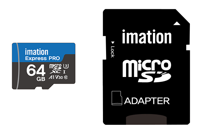 IMATION microSD 64GB 90MB/s C10+Adapter