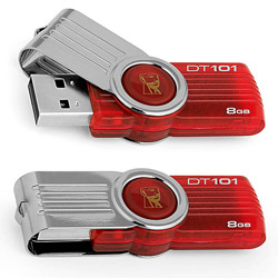 Kingston Flash USB2.0 DT101G2/8GB Red
