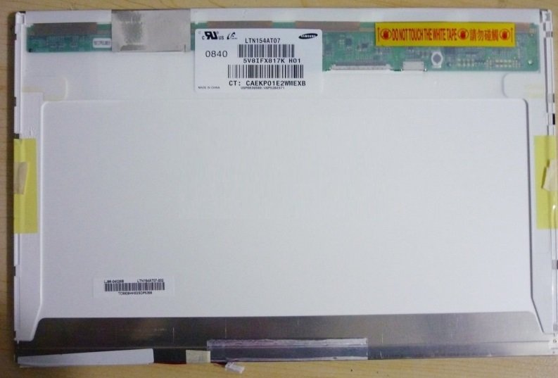 "Laptop Panel 15.4""  LTN154AT07 1280 x 800 WXGA +Inverter"