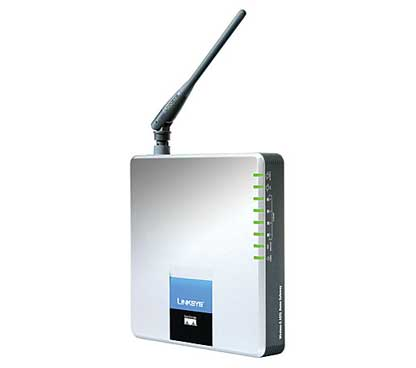 Linksys WAG200G ADSL2+Modem Annex A WiFi-G & 4-Port Switch PSTN
