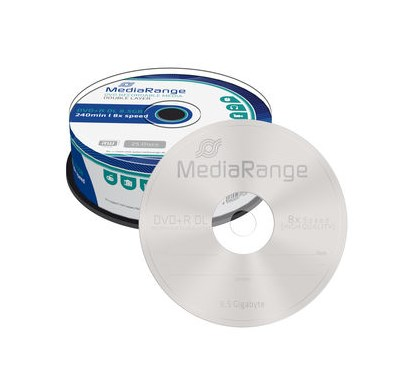 MediaRange Dual Layer 8,5Gb DVD9 DVD+R DL Αδεια Cake Box x25τεμ