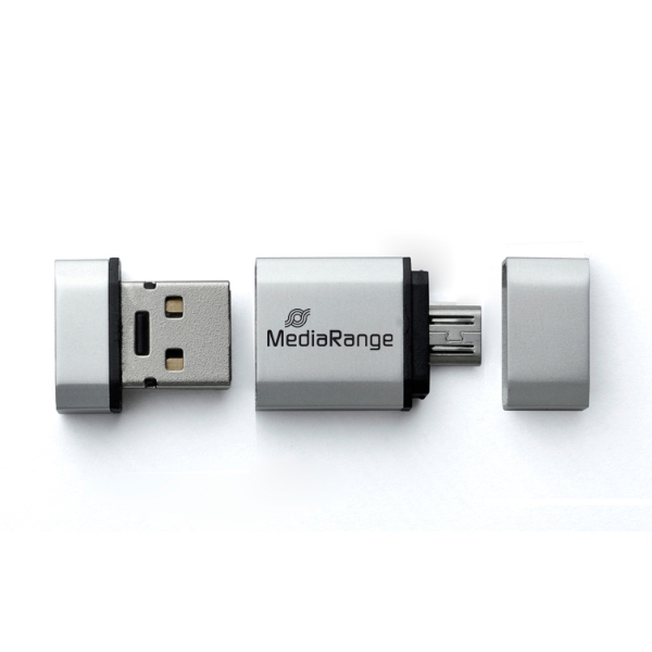 Mediarange 8GB USB 2.0 2in1 Flash Drive with Micro USB OTG