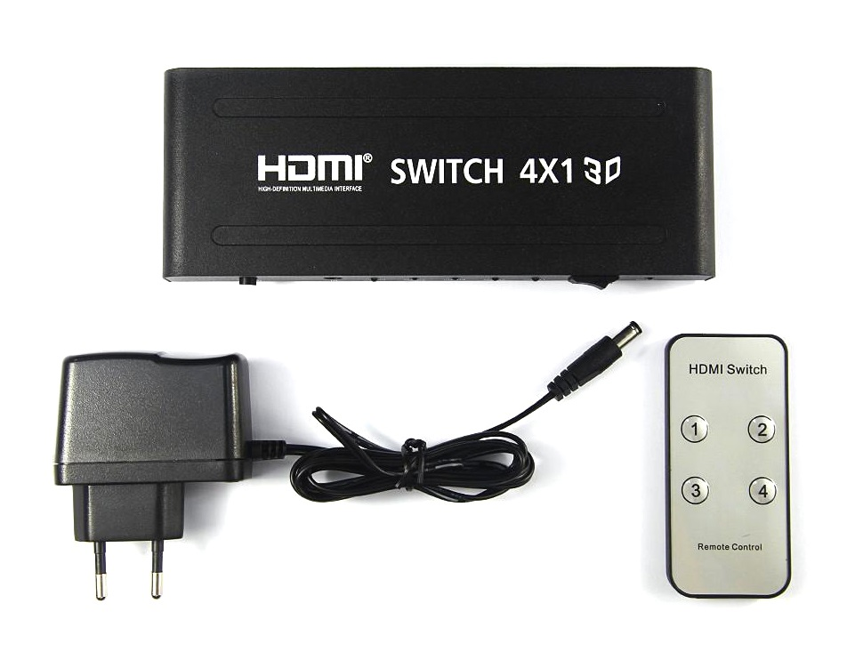 PT Switch HDMI 4Port 1in/4out FullHD 1080p