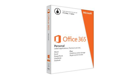 Microsoft Office 365 Personal 32/64bit English Medialess