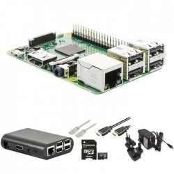 Raspberry Pi 3 Model B starter kit με WiFi KIT1 16Gsd/PSU/Case