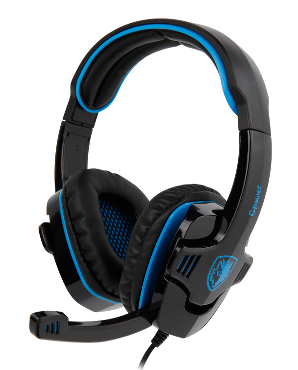 SADES Gaming Headset Gpower 40mm πανίσχυρα ακουστικά 3.5mm Blue