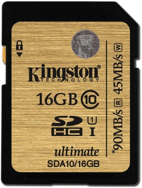 KINGSTON Memory Card SD 16Gb SDA10/16GB Class 10 UHS-I