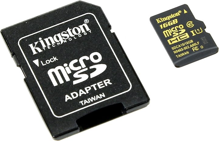 Kingston MicroSD SDCA10/16GB with Adapter UHS-I 90R/45W