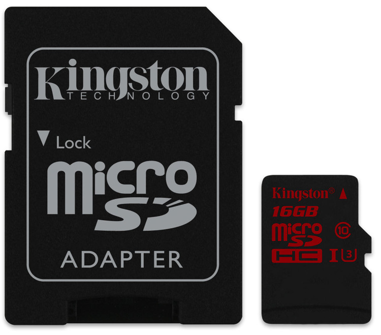 Kingston MicroSD SDCA3/32GB UHS-I speed class 3 with Adapter