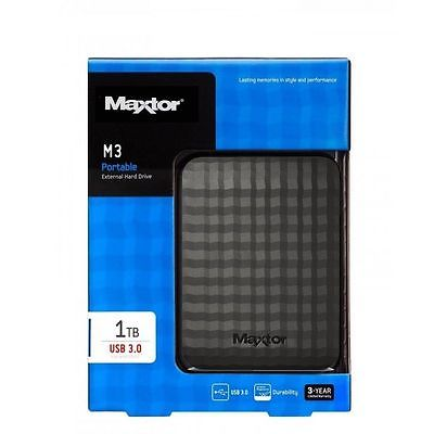 Eξωτερικός Δίσκος Maxtor 1TB 2,5'' M3 Portable USB 3.0 Black