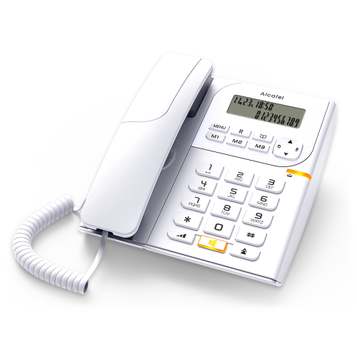 Ενσύρματο τηλέφωνο Alcatel T58 CE Analog Corded Phone - White