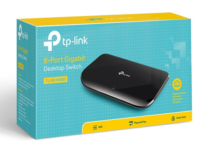 Switch TP-LINK TL-SG1008D 8PORT 10/100/1000 Gigabit
