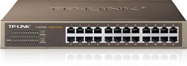 TP-LINK Switch 24PORT 10/100/1000 Rackmount TL-SG1024